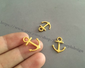 40Pieces /Lot 19mmx15mm Nautical Small Anchor Charms (#0320)