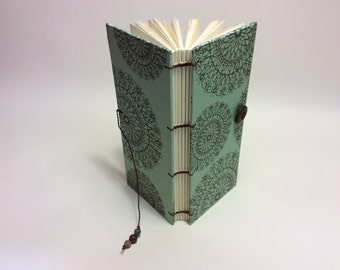 "Earth  Mandala Skinny Button Book  3"" X 7"""