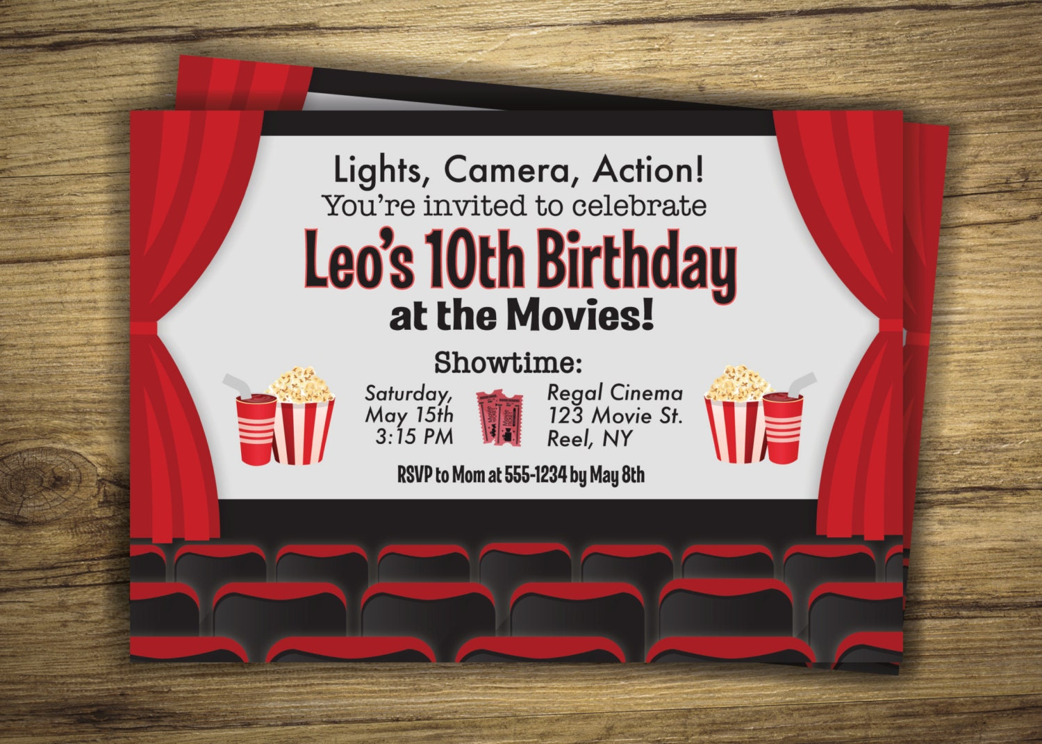 Modern Movie Theater Party Invitations Gift - Resume Ideas ...