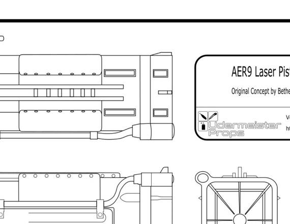 Fallout 4 laser pistol split blueprint from udermeisterprops on fallout 4 laser pistol split blueprint from udermeisterprops on etsy studio malvernweather Gallery