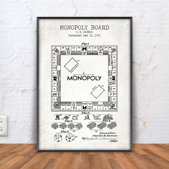 Monopoly poster monopoly patent monopoly blueprint monopoly monopoly poster monopoly patent monopoly blueprint monopoly illustration monopoly wall art board game gaming gamer 1031 malvernweather Image collections