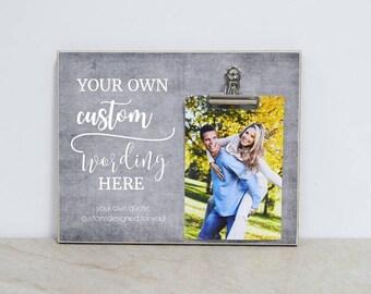 Anniversary Gift Idea, Custom Design Photo Frame, Create Your Own Frame, Valentines Gift For Couple, Gift For Girlfriend, Boyfriend Gift