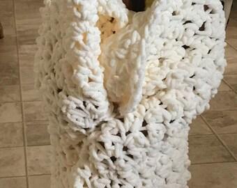 Hooded plush blanket