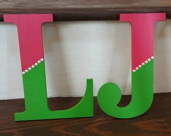 Custom Painted Wooden Letters