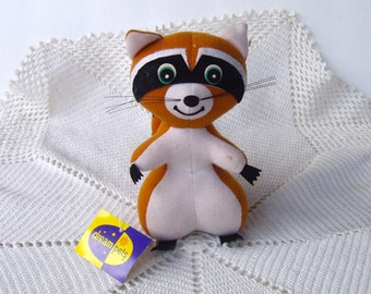 Dakin Dream Pets Ringer Raccoon 3079 w/tag 1974 Vintage Sawdust Stuffed Animal 70s Toy