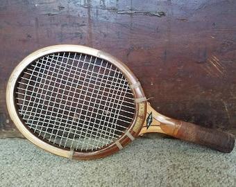 Rare Vintage Wooden Racketball Racket Court King 60s 70s Tennis Racquet