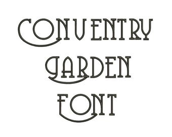 SALE ! Conventry garden  Embroidery Fonts 5 size Instant Download 8 Formats Embroidery Pattern Machine Embroidery design PES