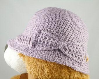 Lightweight Cancer Hat for Girls in Lavender - Cancer Hat/Chemo Hat/Cancer Cap/Chemo Cap