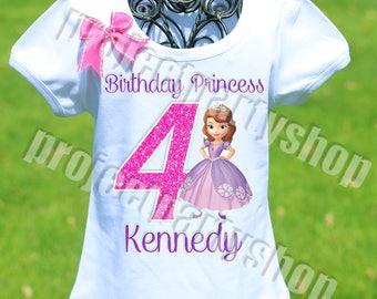 Sofia the First Birthday Shirt, Princess Sofia Birthday Shirt