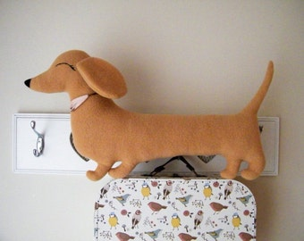 Sausage dog shaped cushion (dachshund pillow) - Free shipping within the UK