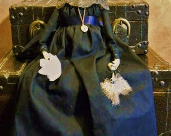 Regency Mourning Doll - Customized Widow Doll with Mourning Jewelry