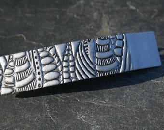 Barrette French 8 cm, designer hair clip, Bobby pin, hair clip polymer Talisacreation...