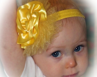 Flower Headband Yellow