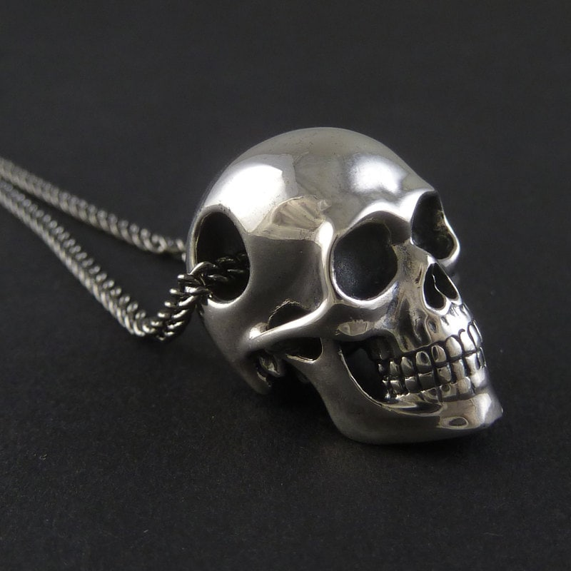 black pendant necklaces pendants and anthony skull lent