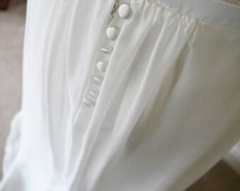 Romantic gathered silk chiffon wedding skirt in Ivory