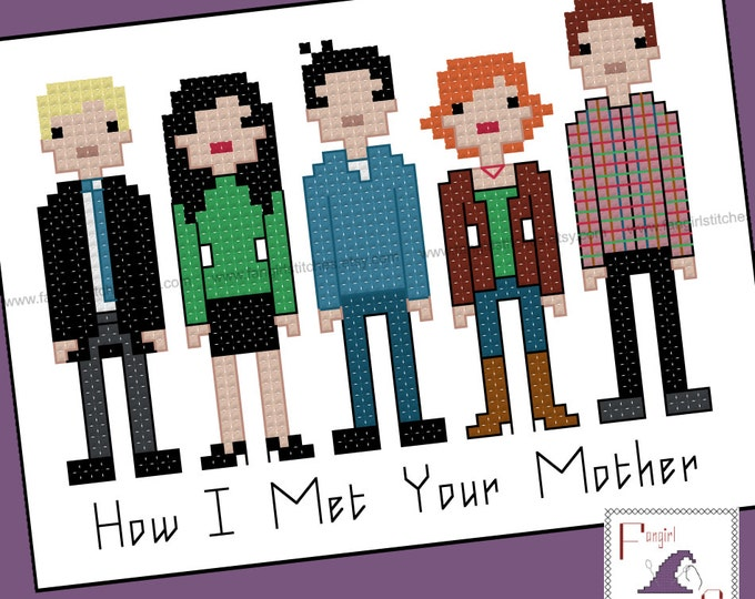 How I Met Your Mother Inspired Cross Stitch - PDF Pattern - INSTANT DOWNLOAD