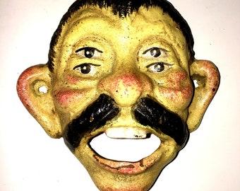 Mr. Mustache Wall Mount Bottle Opener Vintage