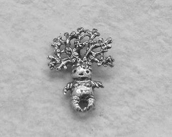 New Green Girl Studios Woman Mandrake Pewter Bead