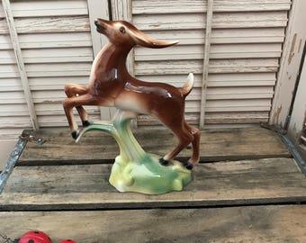 Vintage Art Deco Leaping Gazelle Figurine~ Vintage Decor, Vintage Figurine, Stewart B McCulloch, Art Deco Decor, Movie Prop, 40's Decor
