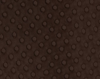 "60"" Dark Brown Minky Dot Fabric-12 Yards By The Bolt (VF445)"