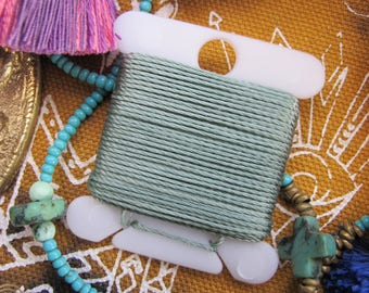 Sage Green Jewelry String 288 Inches 18 Bead String Size .5 DIY Twisted Nylon Bead Cording Grayish Neutral Cord & More 70 Colors Available