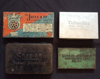Vintage Metal Tool and Parts Boxes