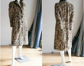 Faux Fur Leopard Coat | Vintage Leopard Print Coat | Animal Print Coat | 90s Animal Print Coat | Vintage Coat | Leopard Print |Cheetah Print