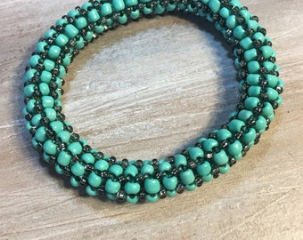 Turquoise Chunky Bangle Bracelet