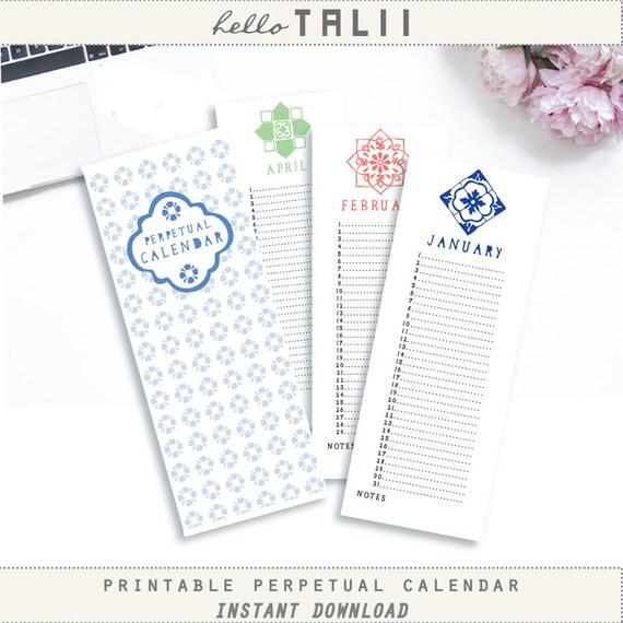 Perpetual Birthday Calendar Template Leoncapers