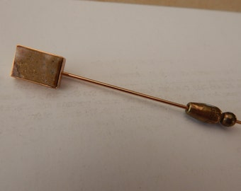 Vintage Stickpin - Stone Setting - Gold Plated - 1800's - Victorian