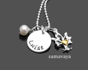 Name chain SELECT heart BÄUMCHEN 925 Silver necklace engraved jewelry