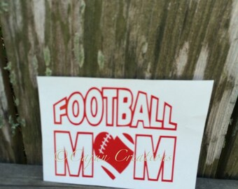 Football mom laptop decal, football decal, computer decal, laptop accessory, vinyl decal, custom decals, Team mom gift, custom gifts