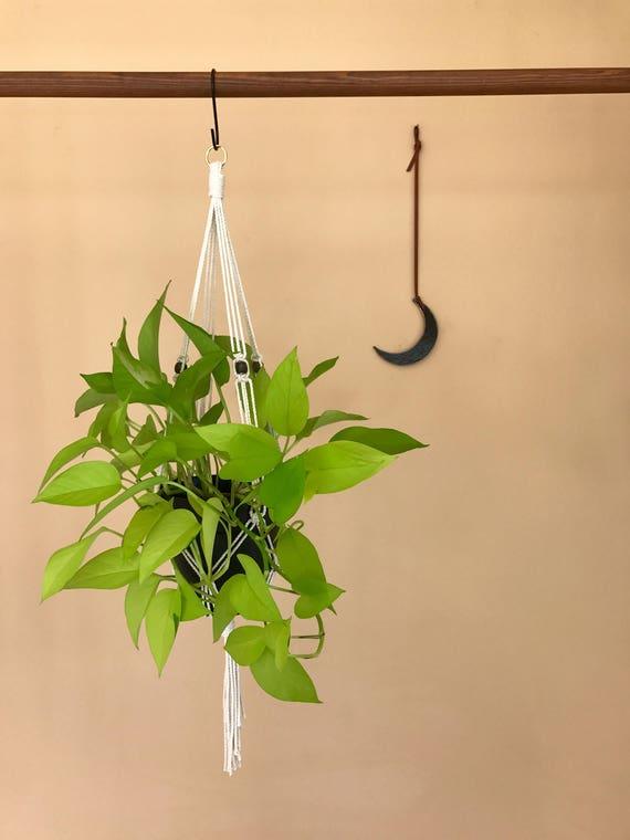 "Macrame Plant Hanger - 30"" Simple Beaded"
