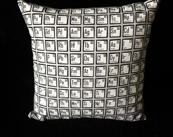 SALE! Breaking Bad Science Periodic Table Chemicals Laboratory Scientific Scientist Student Geek handmade home decor cushion pillow