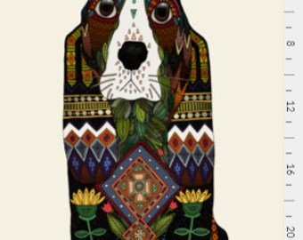 Tea towel Basset Hound illustration, Dog Tea Towel, Home Essentials, Gift for Her, Gift under 15, House Warming Gift, Mother's Day Gift