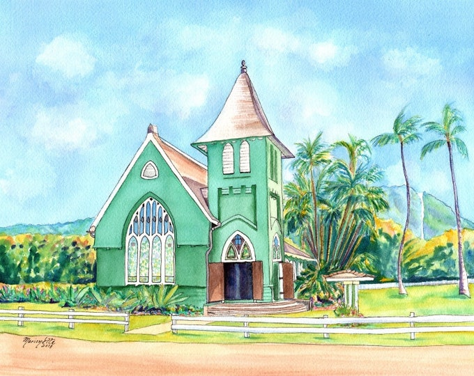 Hanalei Church, Hanalei Green Church, Waioli Huiia Church, Wai'oli Hui'ia Church Kauai, Kauai Old Churches, United Church of Christ