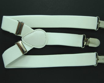 White Suspender  for Baby, Toddler and Boys