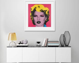 Kate Moss Pink by Banksy Art Print