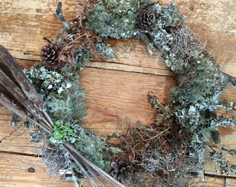Hummingbird Nesting Material Wreath