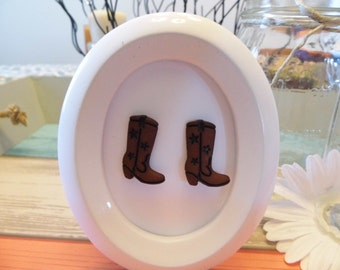 Cowboy Boot Stud Earrings