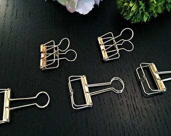 5x gift clip - gold - 3,3cm
