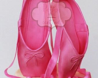 PDF Tutorial:  Ballet Slipper (Fondant)