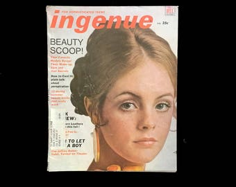 Vintage Ingenue Magazine, July 1968 Issue, Teens, 60's Fashion, 60's Culture, Beauty, Advice, Fiction