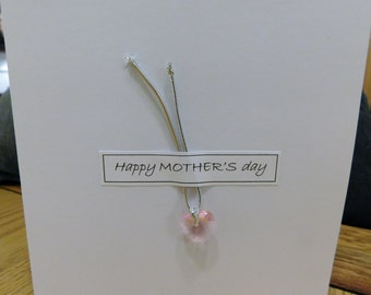 PINK CRYSTAL Mother's Day card