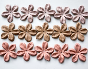jasmine leather flowers set of 15 pcs