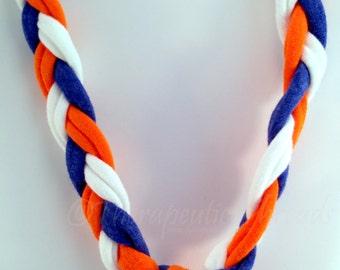 Sensory Jewelry size Small Orange Blue and White