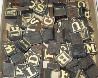 Vintage (1940s) Anagrams - 90  Letter Tiles for Playing or Crafting