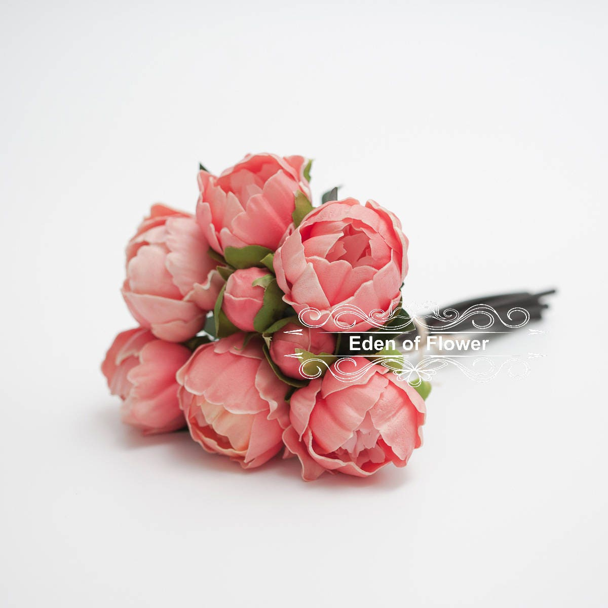 Coral peony real touch flowers bouquets for wedding bridal zoom izmirmasajfo