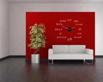 Math Clock, math wall decals, vinyl wall decal, math clock decals, science art, math wall sticker, classroom vinyl, math decal, teacher