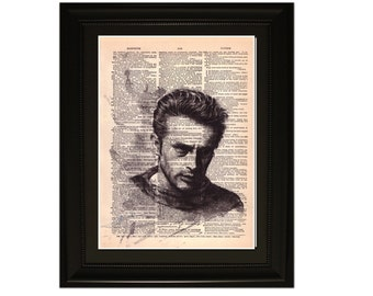 "James"".Dictionary Art Print. Vintage Upcycled Antique Book Page. Fits 8""x10"" frame"